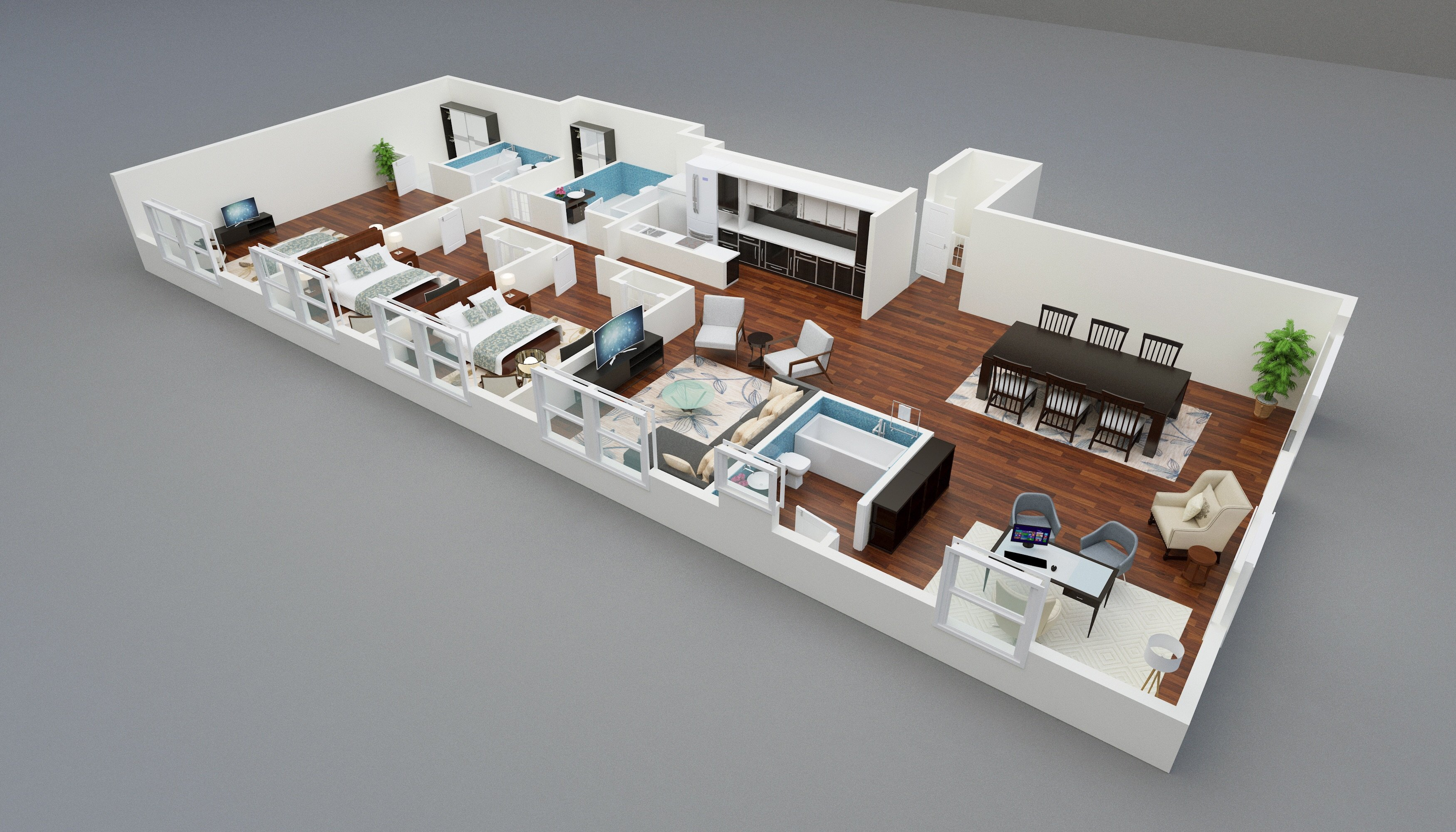 Three bedroom the greystone for Looking for apartments